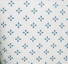 "Navy Print on White Curtains, 42"" Wide 30"" Long, Made in the USA"
