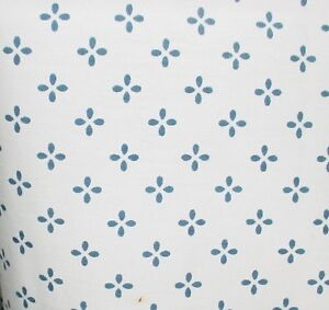 """Navy Print on White Curtains, 42"""" Wide 30"""" Long, Made in the USA"""
