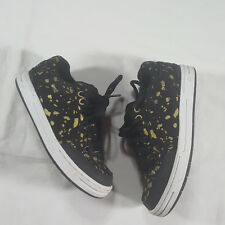 Emerica Heritic 3 Skate Shoes Mens Size 5.5 Black Corrosion Wash Gold Splotch