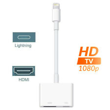 Lightning to HDMI Digital AV Adapter 1080P for iPhone iPad Monitor HDTV Project