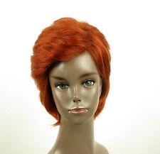 perruque afro femme 100% cheveux naturel courte cuivré intense ref LAET 05/130