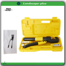 10 Ton Hydraulic Wire Battery Cable Lug Terminal Crimper Crimping Tool With Case