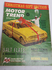 December 1972 Motor Trend magazine collectable issue featuring Record Salt Flats