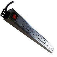 LMS Data 10-way 1u 19-inch Horizontal Rackmount 13a Switched PDU