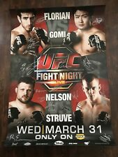 UFC Fight Night Florian vs Takanori Gomi Signed By Card Poster, Roy Nelson, SBC