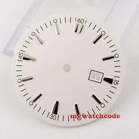 34.8mm white super lume Watch Dial for ETA 2836 Mingzhu 2813 4813 Movement D39