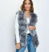 Women Faux Fur Gilet Sleeveless Jacket Coat Body Warmer Waistcoat Outwear Vest