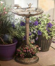 Bronze Effect Bird Bath & Planter Weather Resistant Centrepiece Garden Patio New