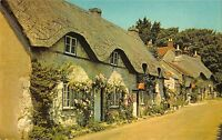 B104120 old thatched cottages at brighstone isle of wight    uk