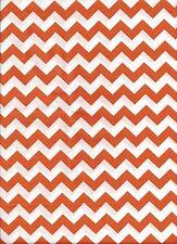 Orange White Chevron Zig Zag Bedroom Kitchen Window Valance Decor