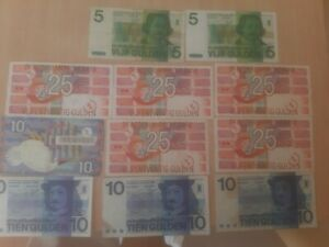 170 alte Gulden NLG Holland 11 Banknoten Lot