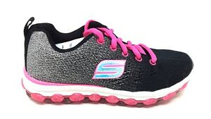 NEW! Skechers Youth Girl's ULTRA GLITTERBEAM Lace Up Shoes Blk/Pnk #80035 92F mm