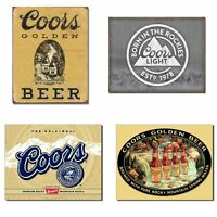 Bundle: Coors Tin Signs - Coors Golden Vintage, Coors Light Born in The Rocki...