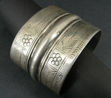 Bracelet Cuff Egyptian Old Large Silver Hallmark Tribal Vintage Cuff Bracelet