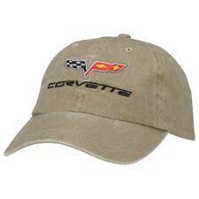 C6 Corvette Khaki Unstructured Cotton Hat