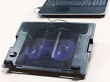 König Notebook Ständer LED + 2x Lüfter Kühler Laptop USB Hub Cooler 17,3 18 Zoll