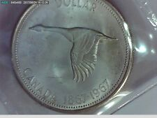 1967 Canadian Silver Dollar MS 64 1867-1967