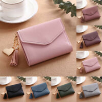 Women Girl Small Clutch Leather Short Wallet Photo Credit ID Card Holder Purse