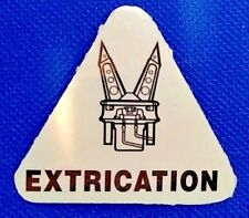 FIREFIGHTER EXTRICATION HIGHLY REFLECTIVE DECAL WITH JAWS