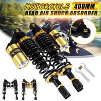 "2pcs 15.7"" 400mm Motorcycle Rear Shock Absorber Air Suspension For Suzuki Yamaha"