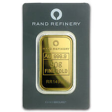 50 gram Gold Bar - Rand Elephant Mirage (In Assay) - SKU #91445