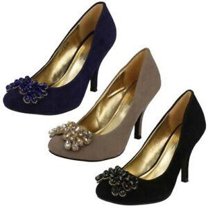 Ladies Anne Michelle Court Shoe 'Heels'