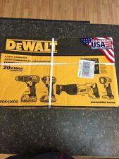 Dewalt DCK420D2 20V MAX Cordless Lithium-Ion 4-Tool Combo Kit - Brand New