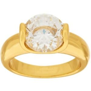 14k Yellow Gold Over 3.50 Ct Round Cut Simulated Diamond Solitaire Ring