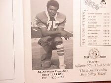 1974 South  Carolina  State  Football  Program (HENRY CARSON/WILLIE  JEFFRIES