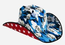 """New PATRIOTIC 🇺🇸""""BUSCH"""" BEER Box Cowboy/Cowgirl HAT🍻Party Hat🎉 FUN 4th Hat!"""