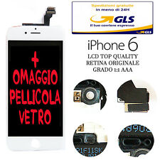 LCD COMPLETO PER APPLE IPHONE 6 BIANCO CON DISPLAY RETINA ORIGINALE FRAME TOUCH