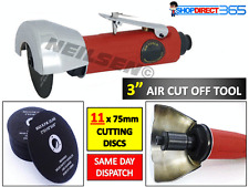 "3"" 75mm Air Cut Off Tool Grinder Cutter Straight Saw With 11 Cutting Discs CT678"
