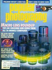 1987 Popular Photography Magazine: Macro Lens Roundup/Slow Shutter Speeds Motion