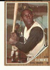 1962 Topps,  #10,  Roberto Clemente, Pittsburgh Pirates, EX-MT, Set Break