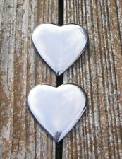 Heart Shaped Stainless Steel Bridle / Harness Rosettes Loop Conchos Silver Color