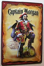 CAPTAIN MORGAN , LETRERO DE METAL con ESTAMPADO, MOTIVO PIRATA RON