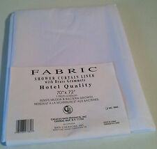 "New Creative Bath Shower Curtain Fabric Liner 70"" X 72"" White Mildew resistant"