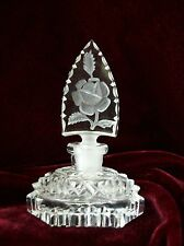 Vintage Czech Perfume Bottle~Dauber~Signed~Rose Stopper~A Breath Away From Mint