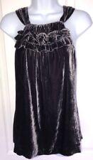 SUNDANCE Catalog Silk Blend Velvet Nicole Halter Top XS Excellent Condition!