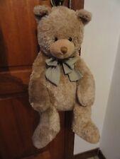Sac à dos peluche ours beige (tirette au dos) + cadeau