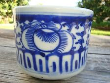 Antique Chinese Blue and White Porcelain Incense Burner Circa 19th Century