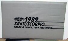 1989 Merkur Color & Upholstery Selection XR4Ti Scorpio