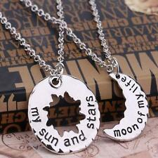 Game of Thrones Moon of My Life & Sun & Stars Pendant His Hers Necklaces Set UK