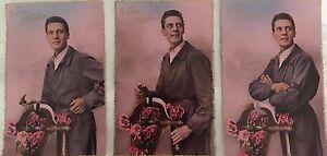 * 3  Cartes postales photo bromure - VIVE ST ELOI