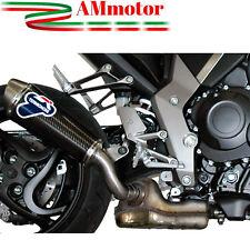 Terminale Di Scarico Termignoni Honda Cb 1000 R 2012 12 Ovale Inox Carbonio Moto