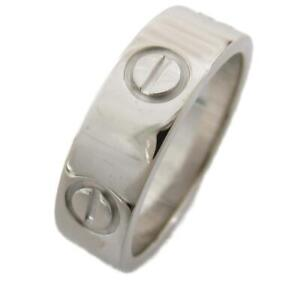 Cartier Love ring bague anello #10 18K 750 White Gold Used