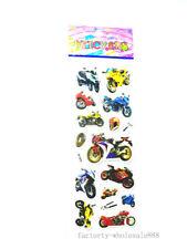 1 sheet 3D Pvc motorbike stickers lot kids Crafts Puzzle study reward gift hot