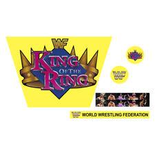 WWF//WWE Mattel Retro WCW Red//Purple Logo Custom Ring Stickers//Decals ECW NWO