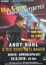 Andy Rühl Da Capo Udo Jürgens Konzert Plakat Poster Berlin