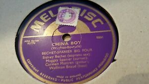 12 MELODISC BECHET SPANIER BIG FOUR CHINA BOY & FOUR OR FIVE TIMES MELODISC 8001